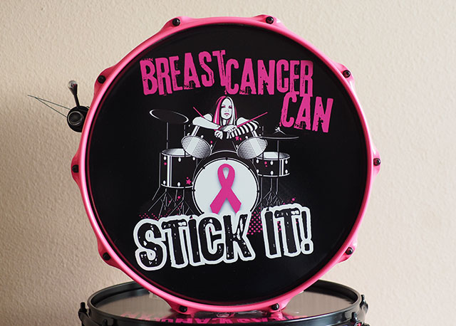 Limited Edition 6.5x14 Breast Cancer Can Stick It! Snare Drum